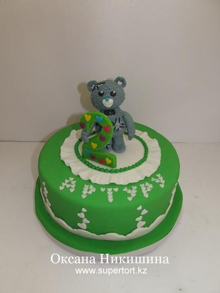 Торт Мишка Тедди поздравляет