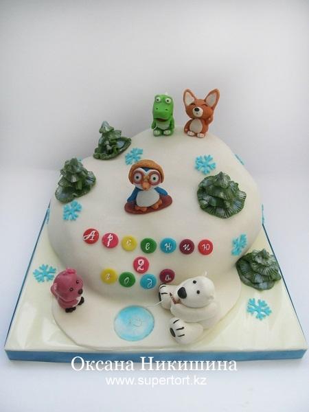 Торт Пингвиненок Пороро и его друзья