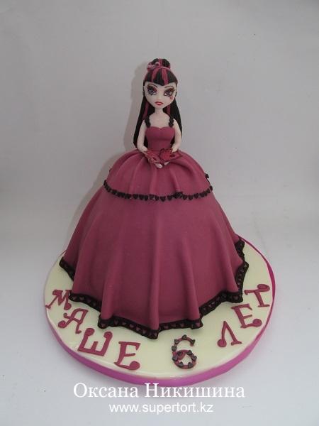 торт кукла монстр хай фото