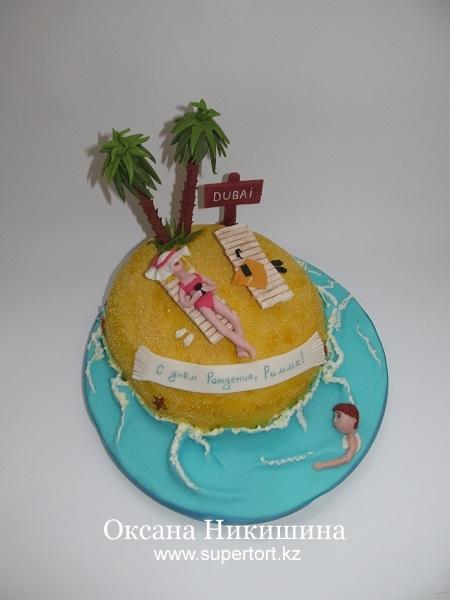 Торт На пляже