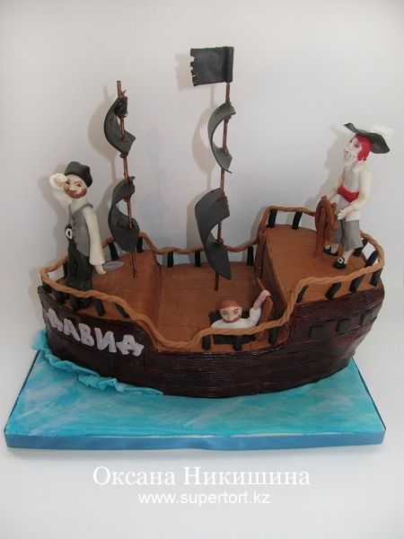 Торт Пираты на корабле