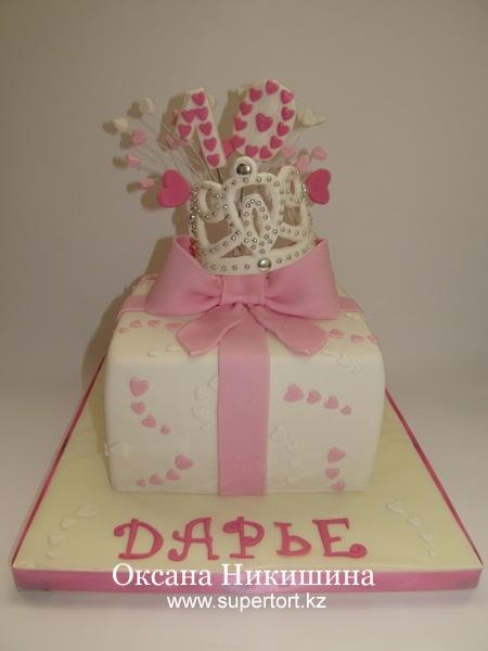 Торт Подарок для юной принцессы
