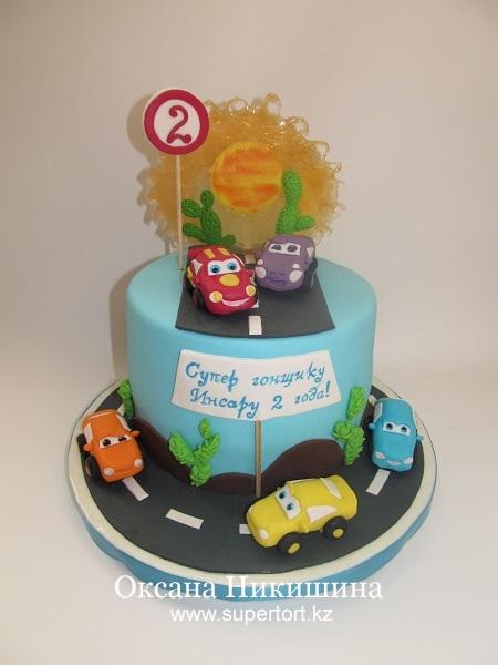Торт Тачки для маленького гонщика
