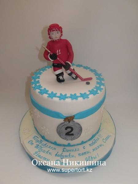Торт Хоккеист - чемпион