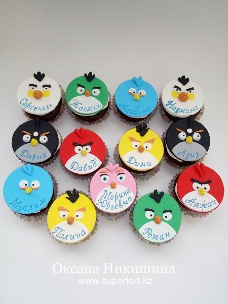 Капкейки Angry Birds