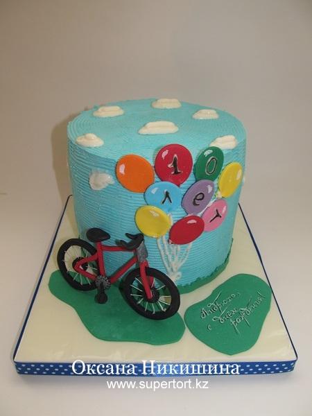 Торт Я буду долго гнать велосипед...