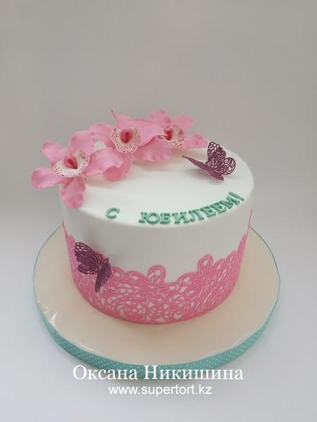 "Торт ""Розовые орхидеи"""