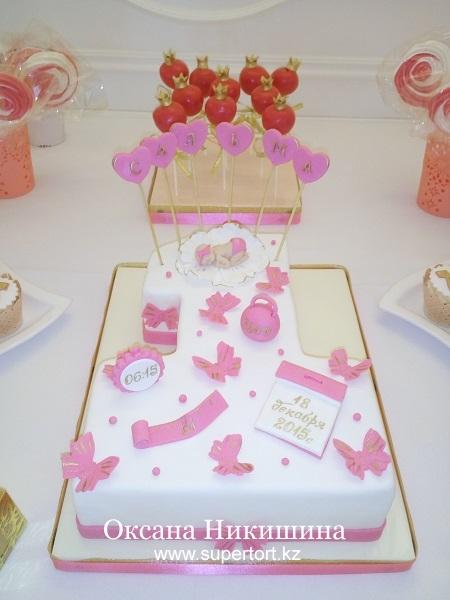 """Торт """"Принцессе Сальме 1 год"""""""