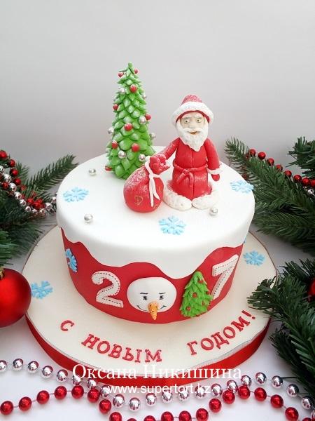 "Торт ""Дед Мороз поздравляет"""