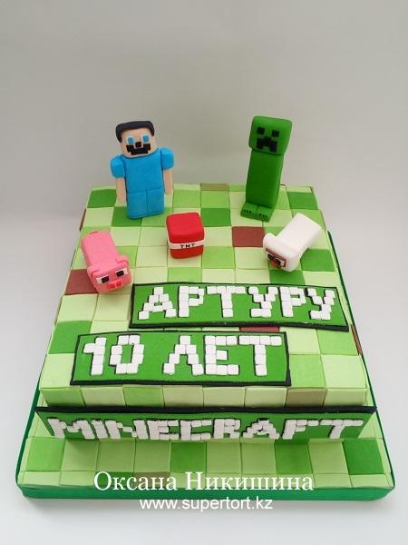 """Торт """"Minecraft для Артура"""""""
