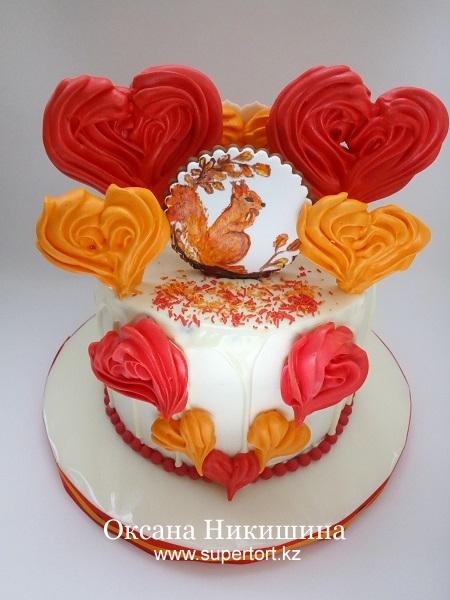 "Торт ""Любимой белочке"""