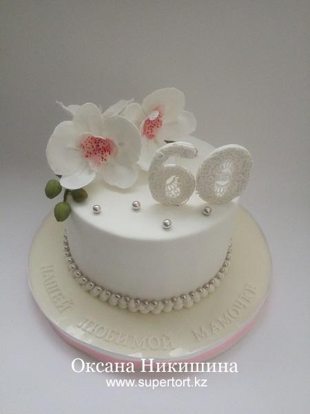 "Торт ""Орхидеи для мамочки"""
