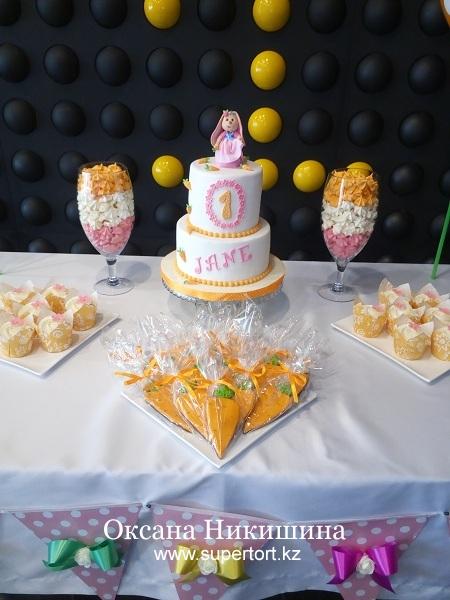 "Candy bar ""Милой зайке Jane 1 год!"""