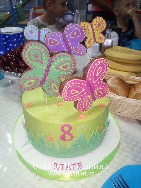 "Торт ""Бабочки летят к Злате"""