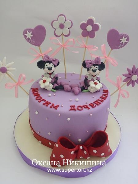 """Торт """"Минни Маус для любимых дочек"""""""