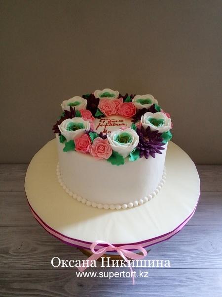 """Торт """"Букет для любимой мамы"""""""