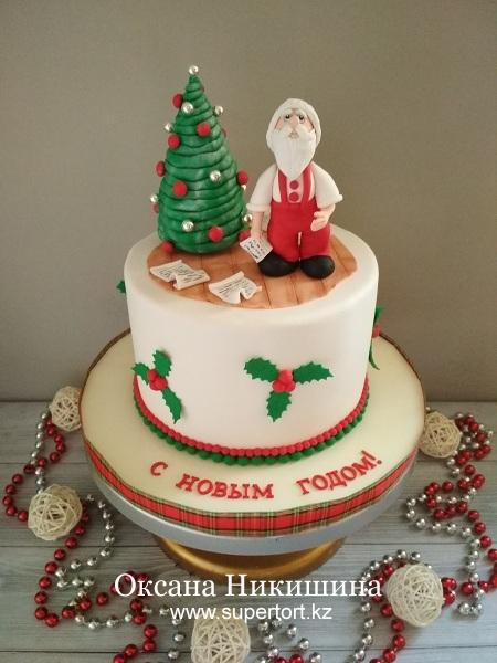 "Торт ""Заботливый Дедушка Мороз"""