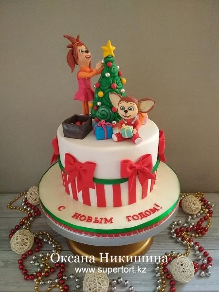 """Торт """"Новый год с Барбоскиными"""""""