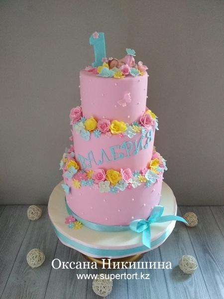 """Торт """"Валерии 1 год!"""""""