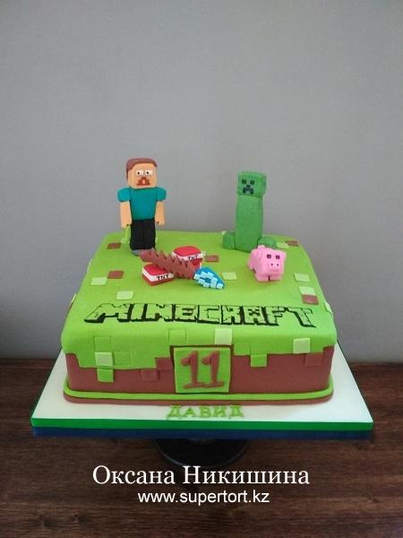 """Торт """"Майнкрафт"""""""