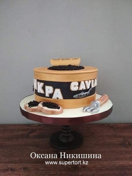 Торт «Банка черной икры»
