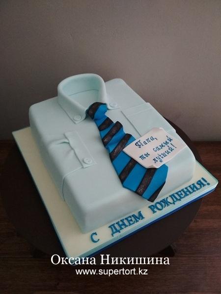 """Торт """"Рубашка для папы"""""""