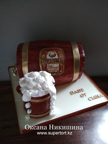 Торт «Бочонок пива»