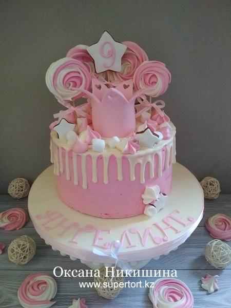Торт «Ангелине 9 лет»