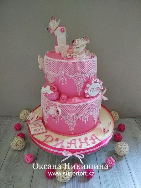"Торт ""Диане 1 год!"""