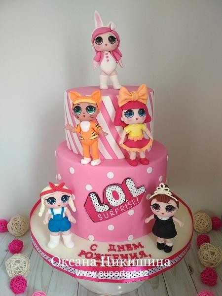 "Торт ""Мои любимые L.O.L."""