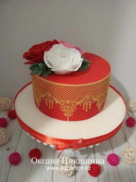 """Торт """"Пионы для Любимой"""""""